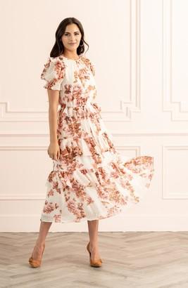 Rachel Parcell Short Sleeve Ruffle Dress