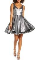 Mac Duggal Sleeveless Metallic Fit & Flare Dress