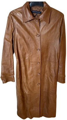 French Connection Brown Leather Coat for Women