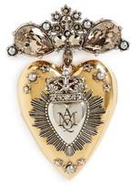 Alexander McQueen Women's Heart Locket Brooch