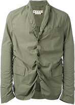 Marni rouched blazer - men - Cotton - 52