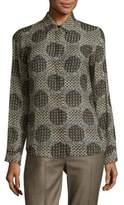 Max Mara Tandem Textured Silk Blouse