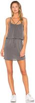 Lanston Cross Strap Dress in Gray