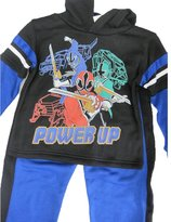 Power Rangers Little Boys Royal Blue Superhero Print 2 Pc Pants Set