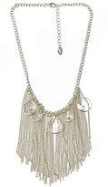Crystallized Fringe Bib Necklace