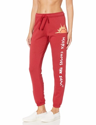 Betsey Johnson Women's Here Comes The Sun Vintage Sweatpant