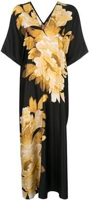 Natori floral-print kaftan