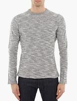 Officine Generale Grey Melange Cotton Sweatshirt