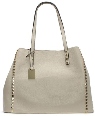 Daniel Mooch Beige Tumbled Leather Studded Tote Bag