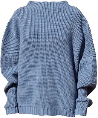 The Knotty Ones Laumes Knit In Baltic Blue