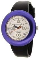 Momentum Women's 1M-SP99WP1B Alter Ego Purple Bezel White Dial Black Band Watch