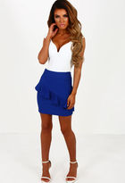 Pink Boutique More Than Love Blue Frill Mini Skirt