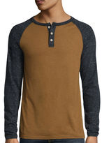 Arizona Long-Sleeve Henley Raglan Tee