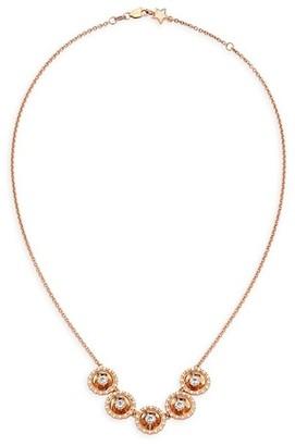 Plevé Aura 18K Rose Gold & Diamond Necklace