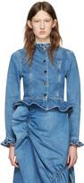J.W.Anderson Blue Denim Ruffle Jacket