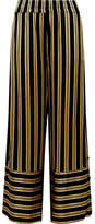 By Malene Birger Brinni Striped Satin Wide-leg Pants