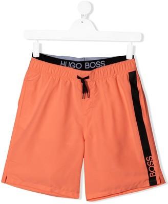 Boss Kidswear TEEN Surfer Logo swim shorts