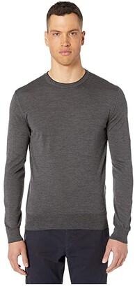 Eleventy Fine Gauge Crew Neck Sweater (Navy) Men's Sweater