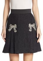 Dolce & Gabbana Jacquard Bow Detail Skirt