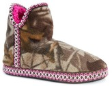 Muk Luks Women's Amira Fleece Camo Print Bootie Slippers