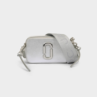 Marc Jacobs Snapshot Bag In Silver Leather