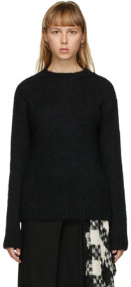 Ann Demeulemeester Black Alpaca and Merino Sweater