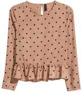H&M Blouse with Flounced Hem