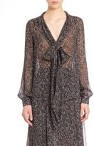Michael Kors Frilled Silk Dress
