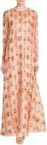 Rochas Printed Silk Floor Length Gown