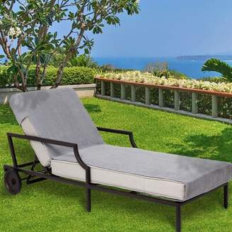 Freeport Park Patio Chaise Lounge Cover Freeport Park Color: Gray, Size: Standard