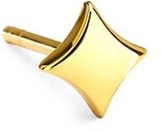 Celara 14K Yellow Gold Plain Star Single Stud Earring