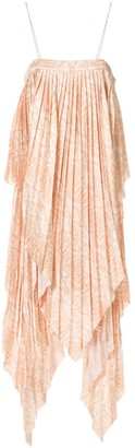 Acler Hooper snakeskin-print pleated dress