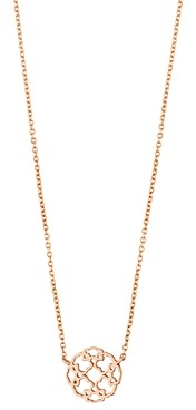 Tous 18K Rose Gold-Plated Sterling Silver Rosa de Abril Choker Necklace, 17.7