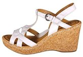 b.ø.c. Eponine Leather Platform Wedge Sandals Women Size 10 M