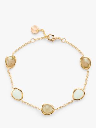 John Lewis & Partners Gemstones Multi Stone Chain Bracelet