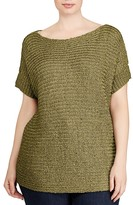 Lauren Ralph Lauren Plus Textured Short-Sleeve Sweater