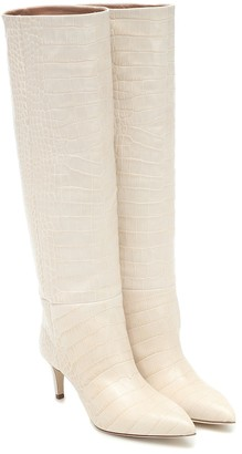 Paris Texas Exclusive to Mytheresa Croc-effect leather knee-high boots