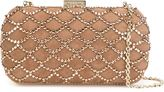 Sergio Rossi embellished clutch - women - Leather/Suede/Swarovski Crystal - One Size
