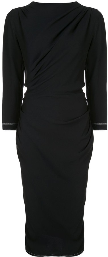 Marni Gathered Front Midi Dress
