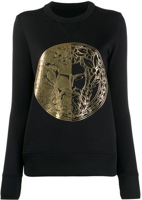 Versace fitted metallic print sweatshirt