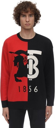 Burberry JACQUARD CASHMERE KNIT SWEATER