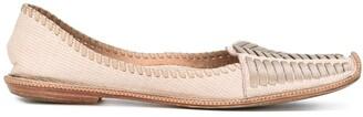 Giorgio Armani Pre Owned Woven Ballerina Flats