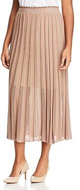 Marina Rinaldi Grace Sheer Detail Knit Midi Skirt
