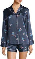 Natori Floral Buttoned Pajamas
