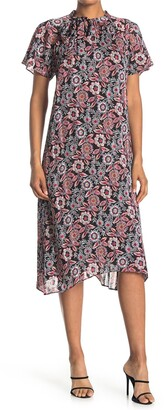 Collective Concepts Short Sleeve Woven Midi Dress