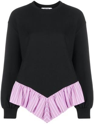 MSGM Ruffle Trim Sweatshirt