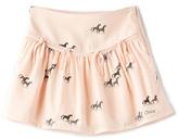 Chloé Kids Horse Print Fringe Skirt
