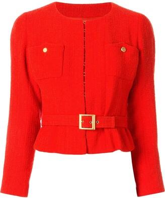 Chanel Pre-Owned 1996 belted tweed jacket