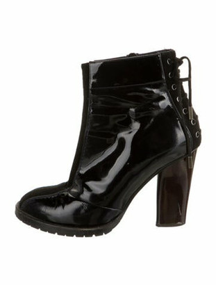 Marc Jacobs Patent Leather Boots Black