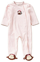 Little Me Baby Girls Preemie-9 Months Pretty Monkey Footed Coverall